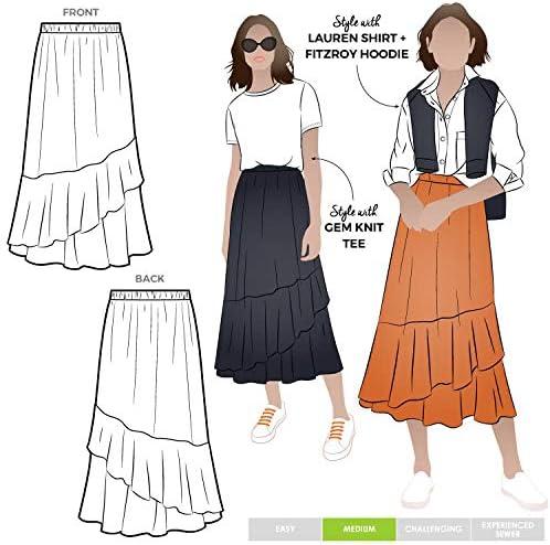 Patrón de costura Style Arc – Falda Sorrento: Amazon.es: Hogar