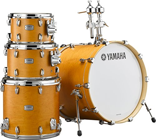 Yamaha Tour Custom Maple 4pc Standard Shell Pack, Caramel Satin (Yamaha Maple Custom Drums)