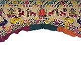 Vintage Artisan Embroidered Toran Huge Gate Valance Door Topper Wall Decor ~ 82 Inch x 62 Inch