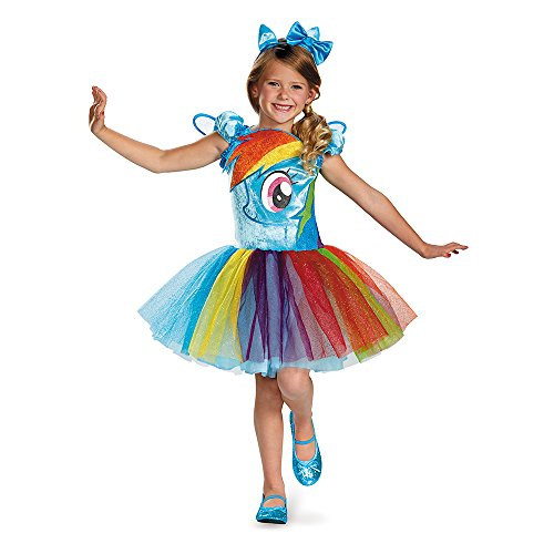 Disguise Hasbro's My Little Pony Rainbow Dash Tutu Prestige Girls Costume, X-Small/3T-4T