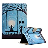 Funyye Magnetic Closure Case for Kindle Fire HDX 7'' 2013,Stylish Romantic Lovers Design Ultra Thin with Credit Card Holder Slots Soft Silicone PU Leather Case for Kindle Fire HDX 7'' 2013