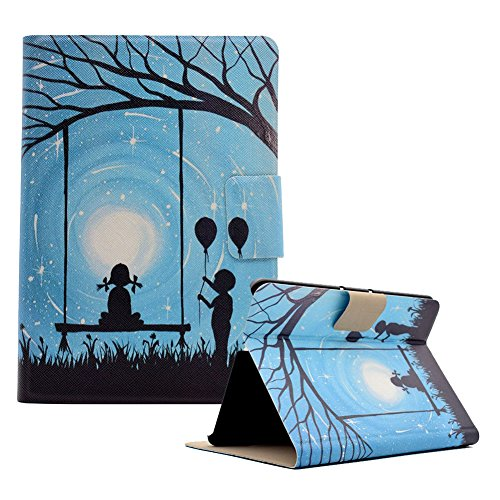 Funyye Magnetic Closure Case for Kindle Fire HDX 7'' 2013,Stylish Romantic Lovers Design Ultra Thin with Credit Card Holder Slots Soft Silicone PU Leather Case for Kindle Fire HDX 7'' 2013 by Funyye