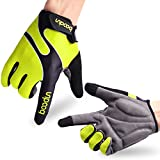 Cycling Gloves Mountain Bike Gloves Road Racing Bicycle Gloves Light Silicone Gel Pad Biking Gloves Bicycling Gloves Riding Gloves Men/Women Work Gloves (Green, M)