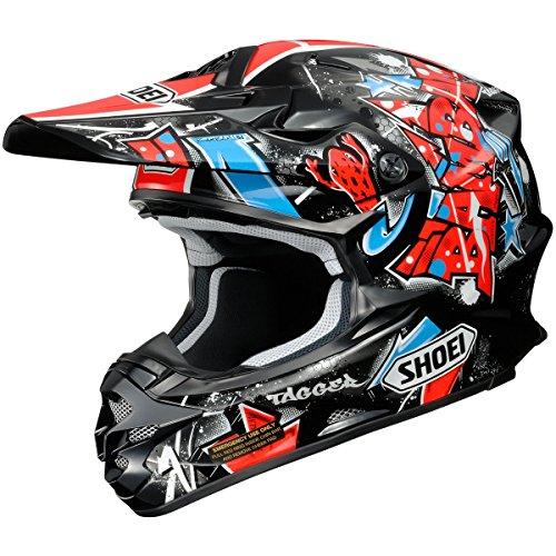 Shoei VFX-W Barcia Off-Road Helmet (Black/Red/Blue, Medium)