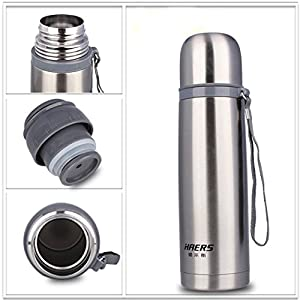 Stainless Steel Thermos 12-24 Hours Double Layer Insulated Vacuum Water Bottle 16.9 fl oz