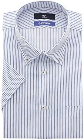 [MIZUNO] ボタンダウンスタイリッシュワイシャツ【半袖】【ICE TOUCH】 盛夏用 C2JAA84-00