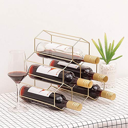Gugulove Creative Geometric Wine Rack Metal Simple Household Grape Restaurant Living Room Bar Cabinet Display - Furniture Holder Humidor L1800 Chef Enthusiast Vacuvin Pack Wide Kalamera Re (Humidor Wine Rack)