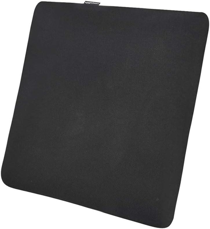 AmazonBasics - Cojín viscoelástico para asiento, negro, cuadrado