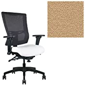 Office Master Affirm Collection AF588 Ergonomic Executive High Back Chair - JR-69 Armrests - Black Mesh Back -...