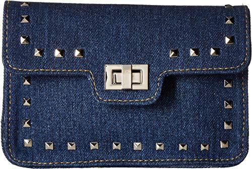 (Steve Madden Women's Guitar Strap Belt Bag Denim SM/MD)