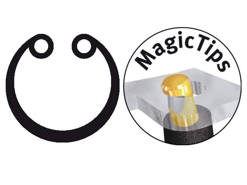 Wiha Sicherungsringzange Classic mit MagicTips/® f/ür Innenringe 140 mm J 01 Bohrungen mit abgewinkelter Form 34693