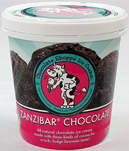 Chocolate Shoppe, Zanzibar Dark Chocolate Ice Cream, Pint (8 Count) (Chocolate Ice Shoppe Cream)