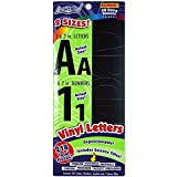 """ArtSkills Adhesive Vinyl Letters and Numbers, 2"""" and 1"""" Assortment, Black, 210-Count (Pa-1210)"""
