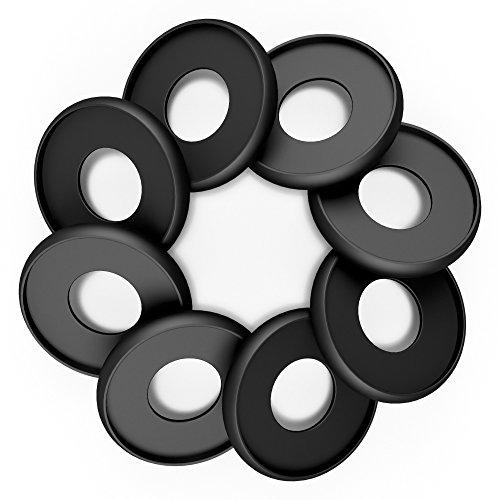 Discagenda Aluminum Disc-Binding Discs 33mm 1.3in 8 Piece Set Black
