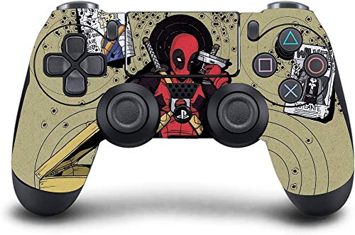 PS4 DualShock Wireless Controller Pro Console - Newest PlayStation4 Controller & Exclusive Customized Version Skin Non-modded (PS4-Deadpool Headshot)