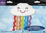"Anagram International 3123101 Rainbow Cloud Shop Balloon Pack, 30"""