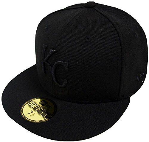 New Era Kansas City Royals Black On Black 59fifty Fitted Cap Limited Edition Black Royal Fitted Hats