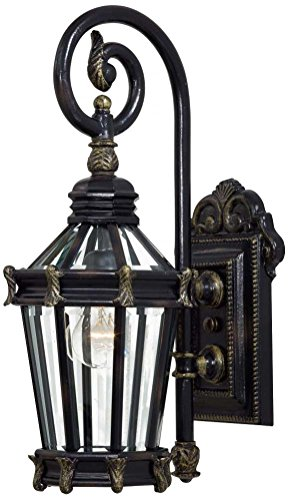 Stratford Hall Five Light (Minka Lavery 8930-95 1 Light Outdoor Wall Mount, Heritage with Gold Highlights)