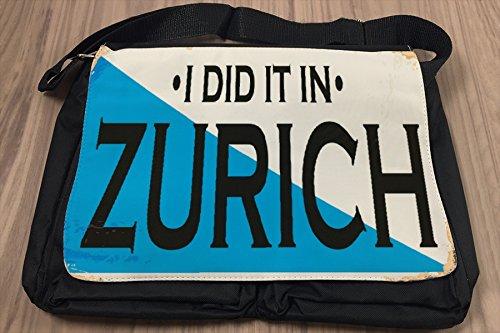 Borsa Tracolla Viaggi Cucina Zurigo Svizzera Stampato