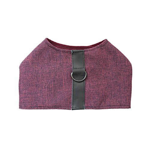 Durable & Soft Linen Dog Harness For Small Dogs Handmade by Hide & Drink :: Grape - Joque Harness