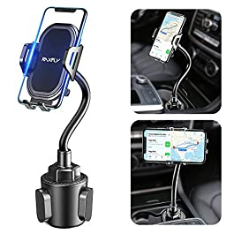 Cup Phone Holder for Car – RAXFLY Adjustable Gooseneck Hands Free Car Cup Holder Phone Mount Universal Compatible with…