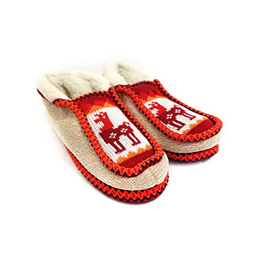 The Argentino Slippers Handmade Moccasin (real Wool Inside!) Desde Salta, Argentina Red