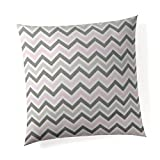 Glenna Jean Pastel Chevron  Pillow 18''X18'' with Fill for Baby Nursery, Decorative Soft Cushion Square
