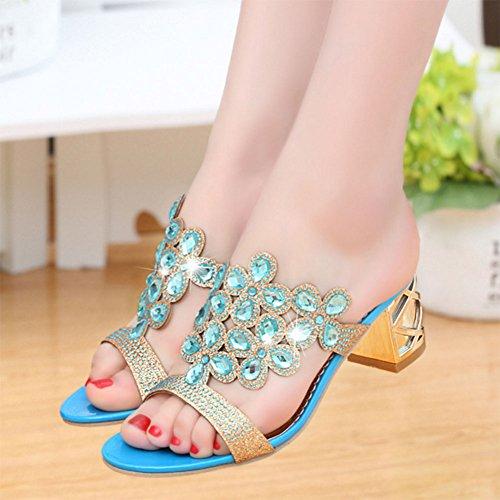 GFONE - sandalias mujer azul claro