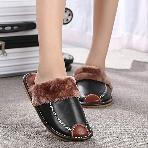 Cotton amp; Women's Shoes Slippers Comfortable Night Slip Wall Warm And Indoor Black Fall Winterhouse onmen's Outdoor On00zX7