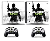 Cosines PS4 Slim Stickers Vinyl Decal Protective Console Skins Cover for Sony Playstation 4 Slim and 2 Controllers Call of Duty COD MW3 Soldier Army War