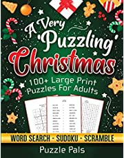 A Very Puzzling Christmas: 100+ Large Print Puzzles For Adults