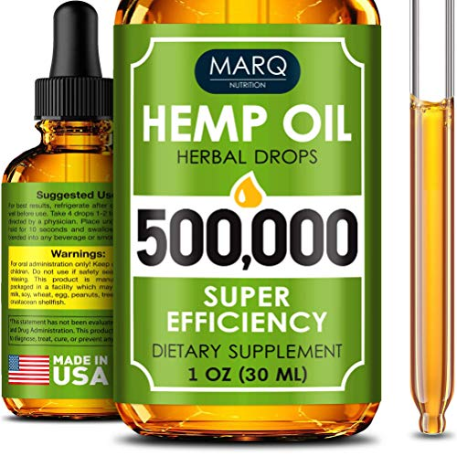 Image of Hemp Seed Oil Drops 500,000 - Premium Colorado Seed Extract -