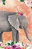 img - for Bullet Journal For Animal Lovers Baby Elephant In Flowers: 162 Numbered Pages With 150 Dot Grid Pages, 6 Index Pages and 2 Key Pages in Easy To Carry ... Size (Bullet Journal Dot Grid) (Volume 5) book / textbook / text book
