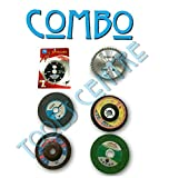 TOOLS CENTRE COMBO OF 6 PCS ANGLE GRINDING WHEEL 4' (110MM) DISCS SUITABLE FOR CUTTING WOOD /METAL /BRICK /MARBLE ,GRINDING ,POLISHING WITH FREE DOCUMENT FOLDER.