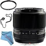 Fujifilm 60mm f/2.4 XF Macro Lens 16240767 + 52mm UV Filter + Fibercloth + Lens Capkeeper Bundle