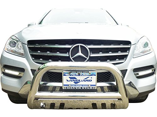 VANGUARD Off Road VGUBG-1015SS Multi-fit Bumper Guard Stainless Steel Bull Bar with Skid Plate