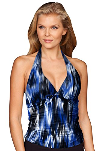 Kallure Riviera Shirred Halter Tankini Top Size 16 (Tankini Shirred Top Halter)
