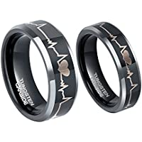 Tungsten Carbide Couple Wedding Rings