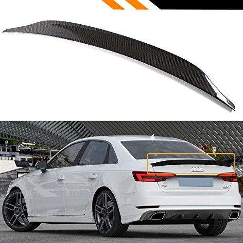 Audi A4 Spoiler - Cuztom Tuning Fits for 2017-2019 Audi A4 S4 Sline B9 CAT Style Carbon Fiber Highkick Trunk Spoiler Wing