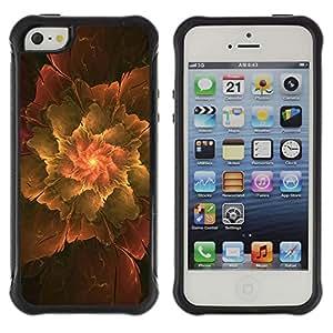 Pulsar Defender Series Tpu silicona Carcasa Funda Case para Apple iPhone 5 / iPhone 5S , Abstract Leaf
