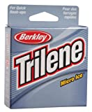 Ice Fishing Best Deals - Berkley Trilene Micro Ice Fishing Line 110 Yd Spool(6-Pound,Clear Steel)