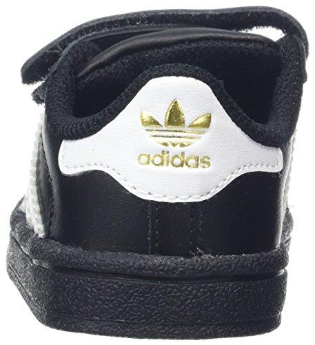 adidas Superstar CF I, Zapatillas Unisex Bebé Negro (Negbas / Ftwbla / Negbas)