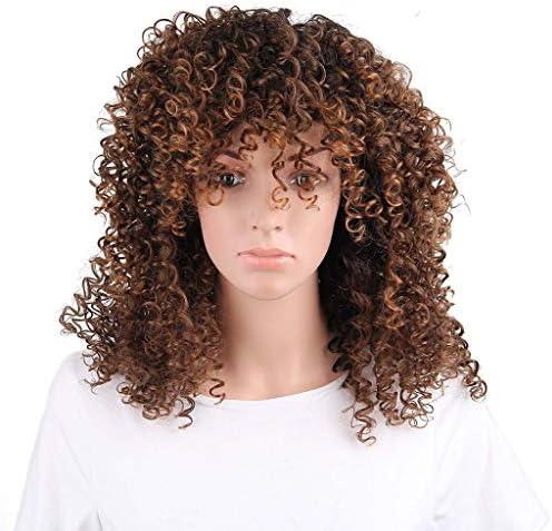 TIREOW Partei Cosplay Mode Damen Perücke Frauen Dame Braun Synthetische Haarkurze Perücken Haar Wave Kurze Perücken 20 cm