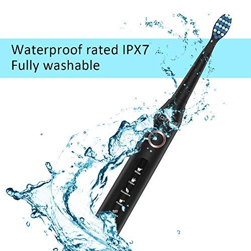 Cepillo de dientes eléctrico fairywill recargable con sonico tecnología,cepillo dental electrico impermeable fw-507 negro