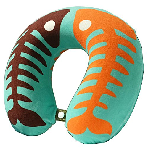 Fishbone Pattern U Shaped Neck Pillow Memory Foam Pillow For Car
