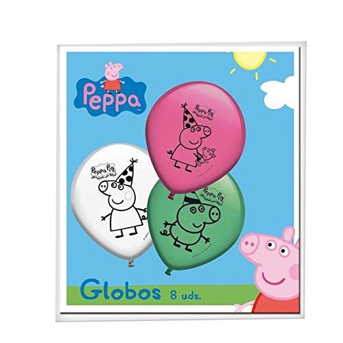 Peppa Pig-8Ballons (verbetena 016000778)