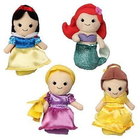 Disney Princess Finger Puppet Set - Snow White, Ariel, Rapunzel, and Belle (Princess Finger Puppets)