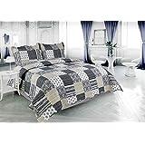 Plaid Pinsonic Bedding 3 Piece Bedspread Quilt Set - Queen Size
