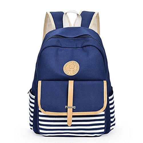 sac messager filles Mode sacs à voyage JIANGfu de mode Femme Bleu dos Cabas épaule Sac Femme à Femme sac BCBG école à main toile Main Sac BpzBw