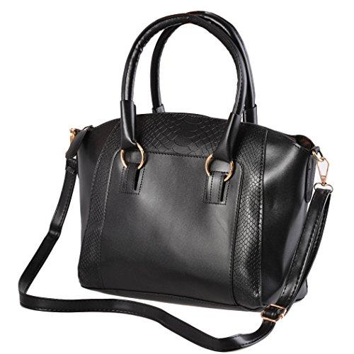 Borsa Messenger - All4you Ladies borsetta borsa a tracolla moda pelle Tote Purse(Blue)